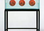 Three Ball 50/50 Tank (Spalding Dr. JK Silver Series), Jeff Koons Image © Jeff Koons, co. Newport Street Gallery, London