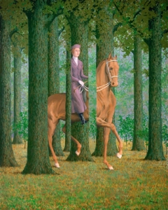 Le Blanc Seing, 1965 by Rene Magritte. Courtesy of the National Gallery of Art, Washington. Videogames the V&A Musuem, London.